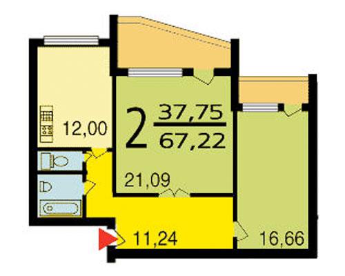 Размеры балкона серии дома мэс 84..