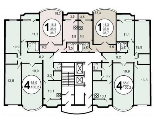 Типовые планировки дома серии и-155мм, планировки дома серии.