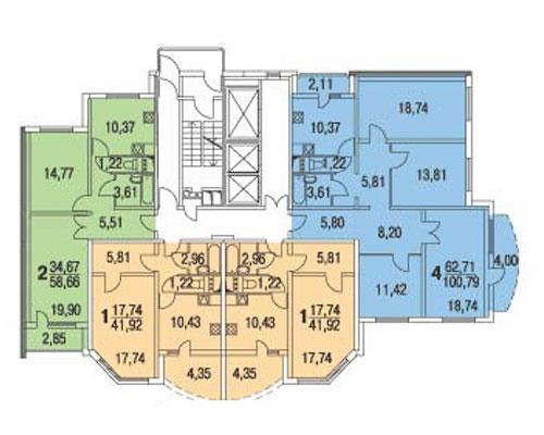 Типовые планировки дома серии копэ-м парус, планировки дома .