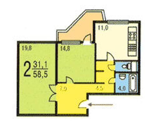 Типовые планировки дома серии пд-4, планировки дома серии пд.