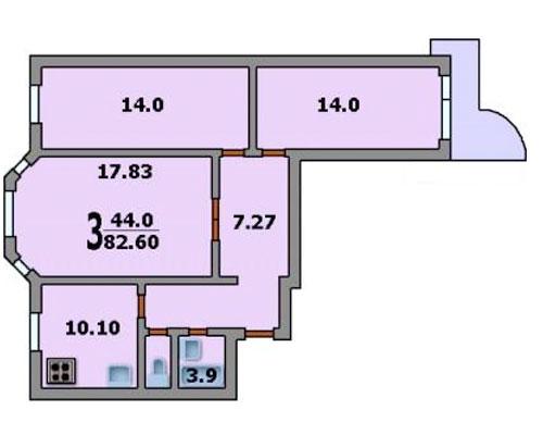 Типовые планировки дома серии п3-м, планировки дома серии п3.